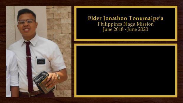 June 2018 to June 2020<br/>Elder Jonathon Tonumaipe'a