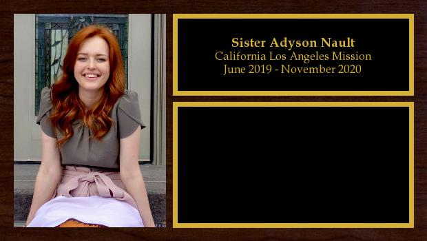 June 2019 to January 2021<br/>Sister Adyson Nault