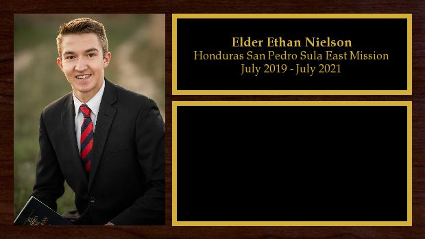 July 2019 to July 2021<br/>Elder Ethan Nielson