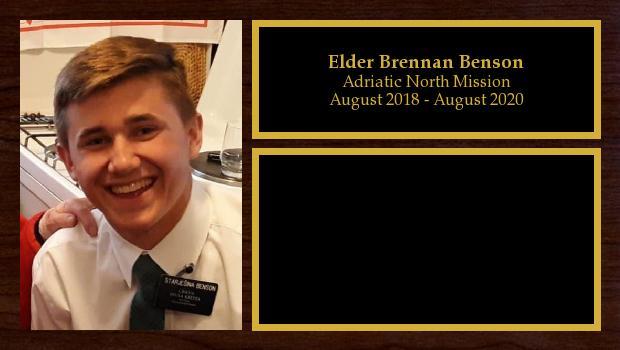 August 2018 to August 2020<br/>Elder Brennan Benson