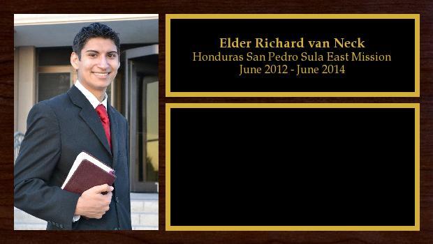 June 2012 to June 2014<br/>Elder Richard van Neck