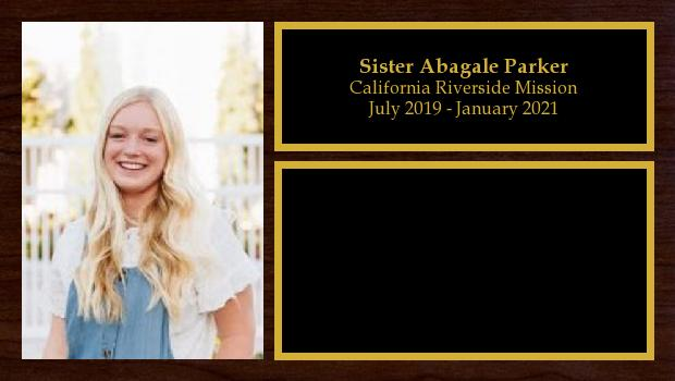 July 2019 to January 2021<br/>Sister Abagale Parker