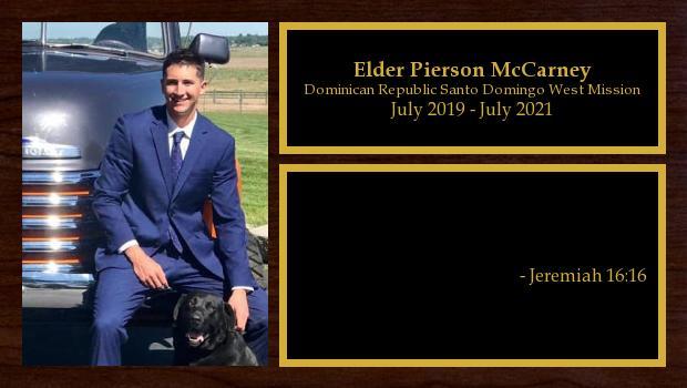 July 2019 to July 2021<br/>Elder Pierson McCarney