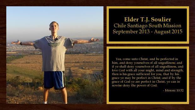 September 2013 to August 2015<br/>Elder T.J. Soulier