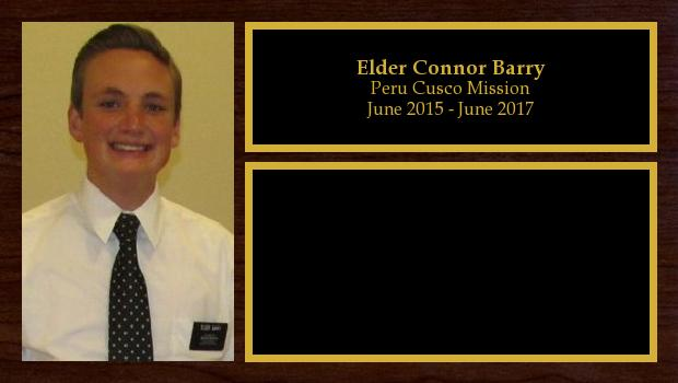 June 2015 to June 2017<br/>Elder Connor Barry