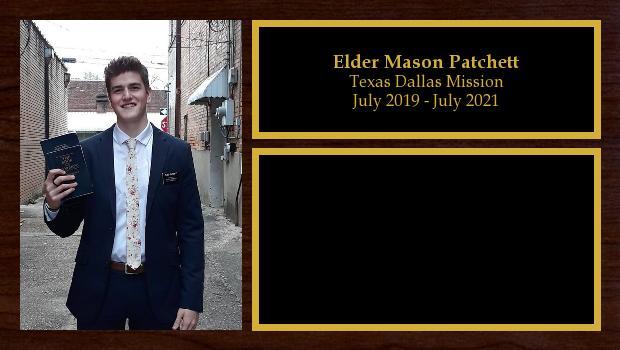 July 2019 to July 2021<br/>Elder Mason Patchett