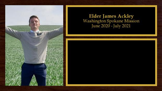 August 2019 to August 2021<br/>Elder James Ackley