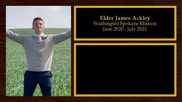 June 2020 to July 2021<br/>Elder James Ackley