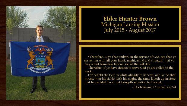 July 2015 to August 2017<br/>Elder Hunter Brown