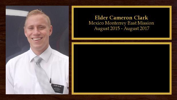 August 2015 to August 2017<br/>Elder Cameron Clark