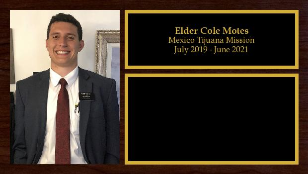 July 2019 to June 2021<br/>Elder Cole Motes