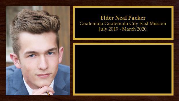 July 2019 to March 2020<br/>Elder Neal Packer