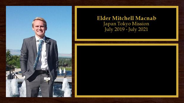 July 2019 to July 2021<br/>Elder Mitchell Macnab