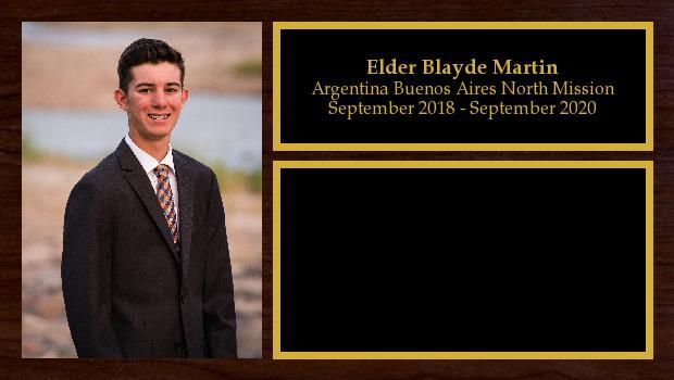 September 2018 to September 2020<br/>Elder Blayde Martin