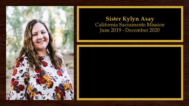 June 2019 to December 2020<br/>Sister Kylyn Asay