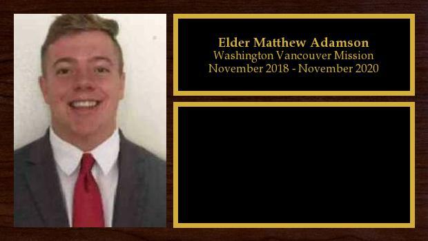 November 2018 to November 2020<br/>Elder Matthew Adamson