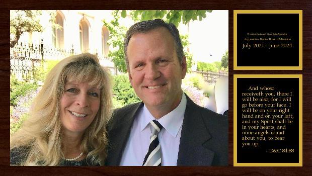 September 2019 to September 2021<br/>Elder Craig and Sister Elaine Marsden