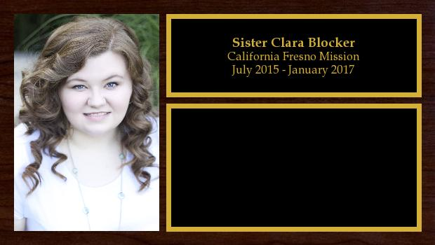 July 2015 to January 2017<br/>Sister Clara Blocker