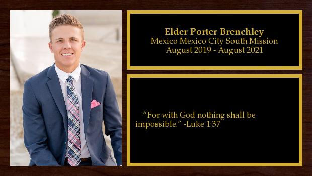 August 2019 to August 2021<br/>Elder Porter Brenchley