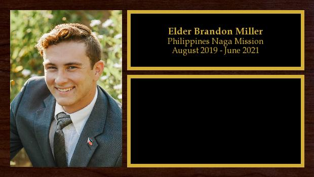 May 2019 to May 2021<br/>Elder Brandon Miller