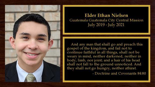 July 2019 to July 2021<br/>Elder Ethan Nielsen