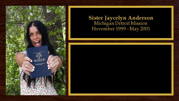 November 1999 to May 2001<br/>Sister Jaycelyn Anderson