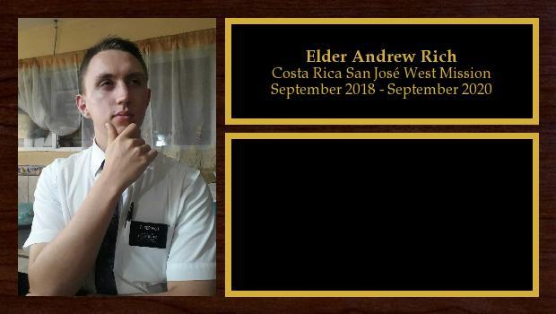 September 2018 to September 2020<br/>Elder Andrew Rich