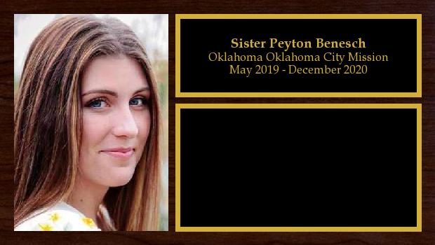 May 2019 to December 2020<br/>Sister Peyton Benesch