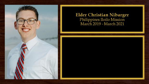 March 2019 to March 2021<br/>Elder Christian Nibarger