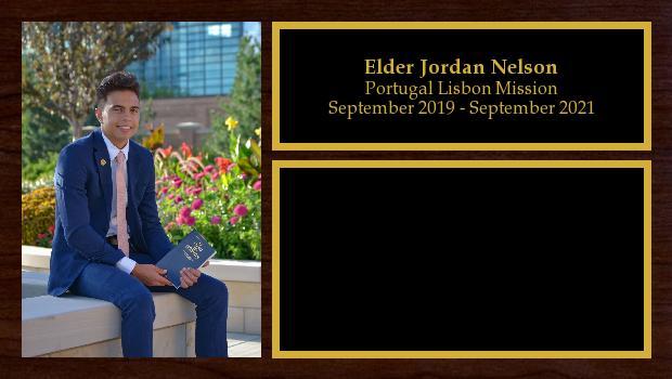 September 2019 to September 2021<br/>Elder Jordan Nelson