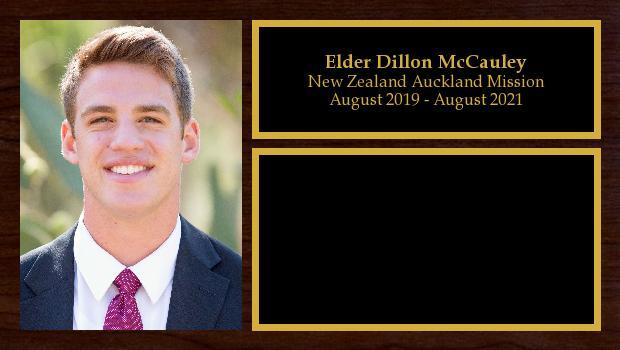August 2019 to August 2021<br/>Elder Dillon McCauley
