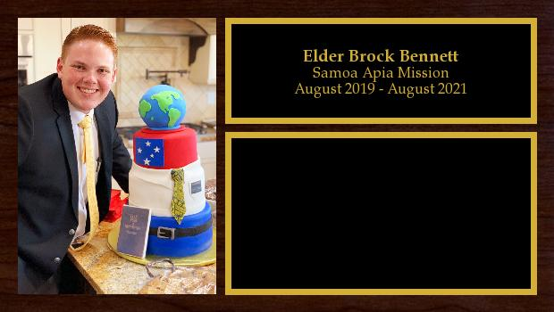August 2019 to August 2021<br/>Elder Brock Bennett