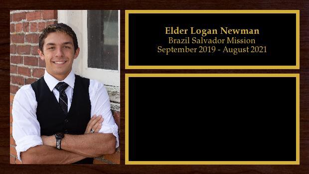 September 2019 to September 2021<br/>Elder Logan Newman