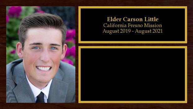 August 2019 to August 2021<br/>Elder Carson Little