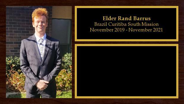 November 2019 to November 2021<br/>Elder Rand Barrus