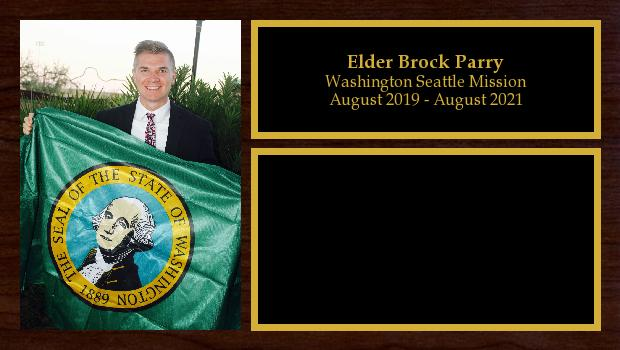 August 2019 to August 2021<br/>Elder Brock Parry