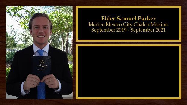 September 2019 to March 2020<br/>Elder Samuel Parker