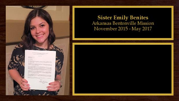 November 2015 to May 2017<br/>Sister Emily Benites