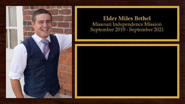 September 2019 to September 2021<br/>Elder Miles Bethel