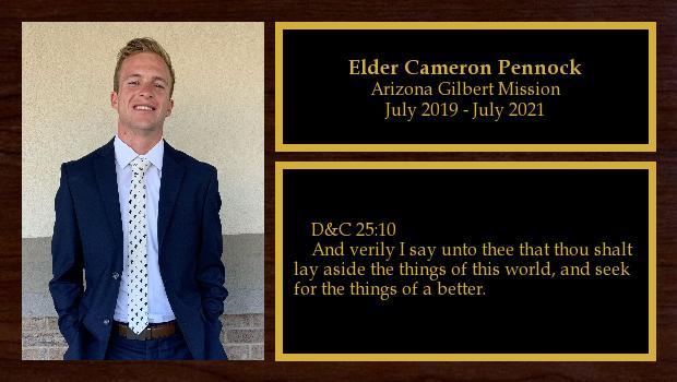 July 2019 to July 2021<br/>Elder Cameron Pennock