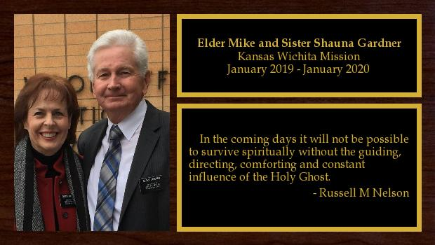 January 2019 to January 2020<br/>Elder Mike and Sister Shauna Gardner