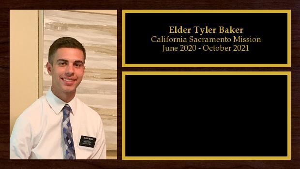 September 2019 to April 2020<br/>Elder Tyler Baker