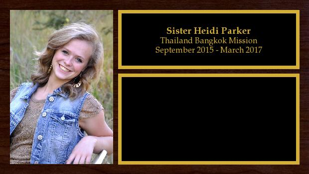 September 2015 to March 2017<br/>Sister Heidi Parker