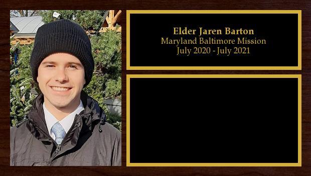 July 2020 to July 2021<br/>Elder Jaren Barton