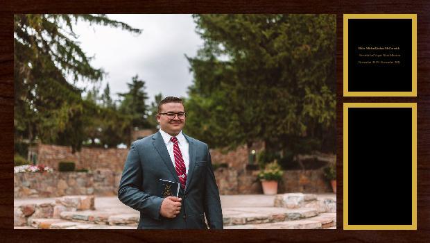 November 2019 to November 2021<br/>Elder Michael Joshua McCormick