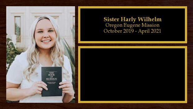 October 2019 to April 2021<br/>Sister Harly Wilhelm