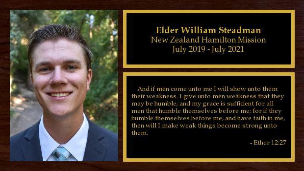 July 2019 to July 2021<br/>Elder William Steadman