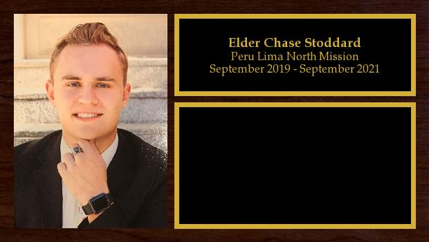 September 2019 to September 2021<br/>Elder Chase Stoddard