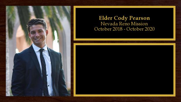 October 2018 to October 2020<br/>Elder Cody Pearson