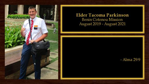 August 2019 to August 2021<br/>Elder Tacoma Parkinson